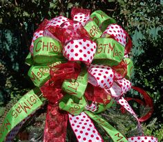 Christmas Tree Bow Topper