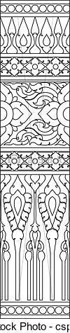 Thai pattern graphic - csp8453296