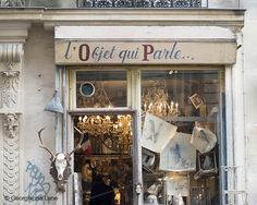 Wonderful, tiny, brocante shop. I bought a great set of canisters for props and a little something for my Mom.