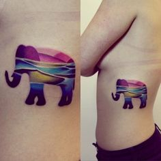 The Colorful Elephant: 26 Coolest Animal Tattoos from Russian Artist Sasha Unisex