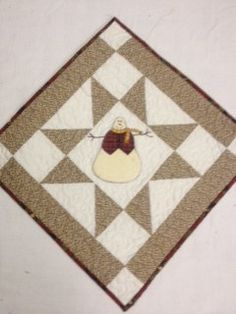 Quilted Snowman table centerpiece or by KoopsKountryKalico on Etsy, $24.99