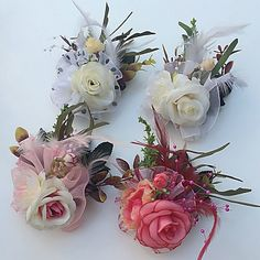 Wedding+Flowers+Roses+Boutonnieres+Wedding+Party/+Evening+Satin+Tulle+Leather+–+USD+$+3.99