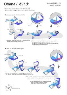 Kusudama Origami diagrams and tutorials Origami And Kirigami, Origami Art, Origami Mobile, Origami Diagrams, Origami Patterns, Arts And Crafts, Paper Crafts, Modular Origami, Impression 3d