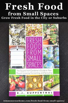 """""""Fresh Food from Small Spaces shows how to grow food in small spaces with minimal inputs. The author explores options from container gardens and dwarf fruit trees to sprouting and mini mushroom farms. Flower Bar, Flower Pots, Flowers Perennials, Planting Flowers, Grow Your Own Food, Grow Food, Dwarf Fruit Trees, Annual Flowers, Backyard Farming"""