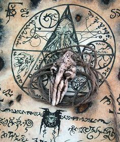 CTHULHU TALISMAN larp prop necronomicon occult lovecraft door zarono,