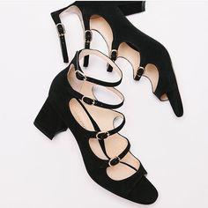 BERNADETTE sandals in black suede by Marion Parke