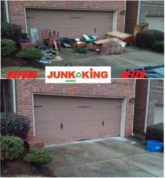 It was a Thunderous Thursday here at Junk King! Do you have so much stuff cluttering up your garage that you can't even park anymore? Not to worry we can come take care of you in a hurry. We can come by at your convenience and scoop it up for you. Work weird hours and not going to be there? No problem just leave it for us outside and we will take care of it. Giving you piece of mind as well as more useable space! Not so sure? Check out this wonderful before and after! #junk #junkremoval