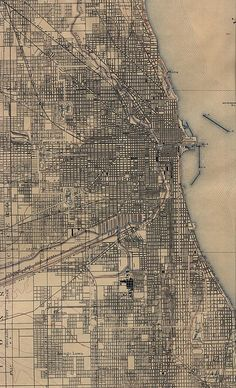 Map of Chicago in 1901