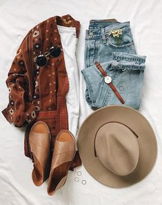 boho chic fall outfit - My Style - Boho Outfits, Casual Outfits, Fashion Outfits, Womens Fashion, Ladies Fashion, Fashion Ideas, Fashion Flatlay, Boho Chic Outfits Summer, Fashion Clothes