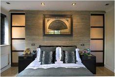 trendy master bedroom closet behind bed storage Master Bedroom Closet, Bedroom Wardrobe, Home Bedroom, Bedroom Wall, Bedroom Decor, Bedding Decor, Boho Bedding, Wardrobe Doors, Bed Wall