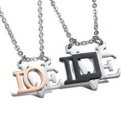 Women's Titanium Stainless Steel Love Shape Honey Fashionable Couple Necklace