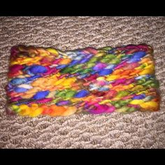 New Handmade Crocheted Rainbow Headband From Etsy New Had Made On Etsy Just Changed My Mind, The Colors Are Really Bold & Bright, It's Beautiful & It Is Super Soft, From Smoke & Pet Free Home Handmade Accessories