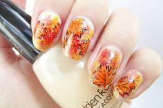 Autumn nails #nailart