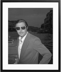 Sonic Editions Marcello Mastroianni, Venice (Framed)