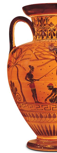A great deal of our knowledge of ancient Greece comes from the painting on pottery. Much of this was done in black on an orange background (black-figure technique), or the reverse (red-figure technique). From our Topic Digging Up the Past | Kids Discover