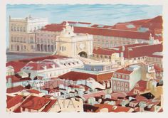"""Praça do Comércio"" - U003 Medium: silk screen  Subject: cityscape  Style: realism  Size: 70 cm x 50 cm Price: €50  phone: (+351)962639443  email: franklim.barata@gmail.com"