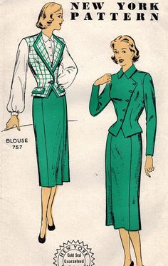 1950s New York 1043 Vintage Sewing Pattern by midvalecottage, $12.00