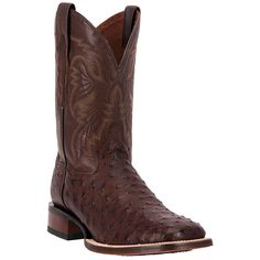 Dan Post Men's Alamosa Exotic Ostrich Cowboy Certified Boots