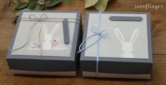 #geschenkbox #hase #baby #geburt #geschenkverpackung #snoeflingor #biancamoschner #alles gute Paper, Paper Mill, Baby Delivery, Gift Wrapping, Invitation Cards, Hare, Invitations, Handarbeit, Craft