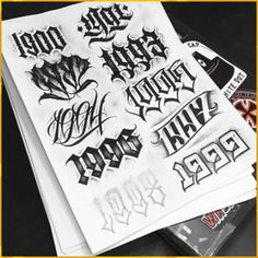 57 ideas for tattoo fonts for names design Number Tattoo Fonts, Tattoo Name Fonts, Tattoo Fonts Alphabet, Tattoo Lettering Styles, Number Tattoos, Chicano Lettering, Graffiti Lettering Fonts, Graffiti Tattoo, Tattoo Design Drawings