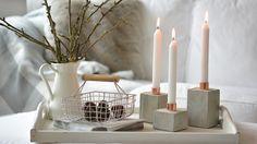 Betongießen ist gerade voll im Trend. Imke Johannson zeigt, wie Sie ganz einfach aus Beton und Kupfer einen Kerzenständer für stimmungsvolle Momente gestalten können.  ARD Buffet vom 3.November 2015       Imke Johannson ( Quelle Foto + Idee )