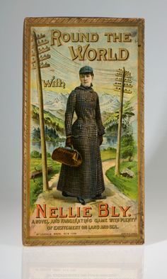 Nellie Bly 'Round the World' board game.   Photo credit: James P. Blair/Newseum collection