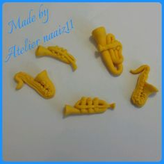 Muziekinstrumentjes gemaakt door Atelier Naaiz11 voor de muziekpietjes