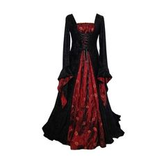 Tumblr ❤ liked on Polyvore featuring dresses, medieval, costume, long dresses and gowns
