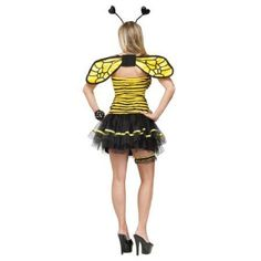 Busy Bee Adult Costume, Adult Unisex, Size: Women Medium/Large(10-14), Multicolor