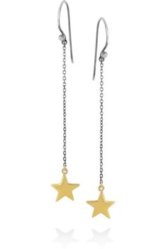 Mathias Chaize | Gold-plated and silver star drop earrings | NET-A-PORTER.COM
