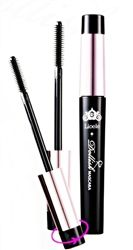 Lioele Dollish Mascara creates perfect doll-like lashes without any help from false lashes. The secret is within the unique silicon spiral brush which effectively separates excessively curly lashes as it lengthens. Turn the dial on the cap to adjust the brush to your liking. The short brush creates perfect length curls while the big brush creates volume. Water-resistant     Non-flaking     smudge-resistant     Removes easily