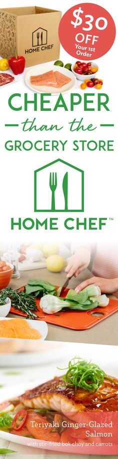 Get $30 off your first order when you sign up with Home Chef today! Click to find out how Home Chef beat grocery store prices.