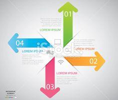 Arrow Infographic Royalty Free Stock Vector Art Illustration