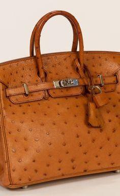Hermes Cognac Handbag |