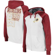 d00bdd448 NFL Women s Washington Redskins Sport Princess Long Sleeve Raglan Full-Zip  Fleece Hoodie (White
