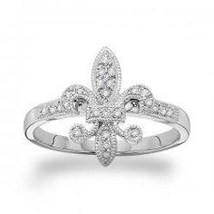 KC Designs Diamond Fleur Di Lis Ring