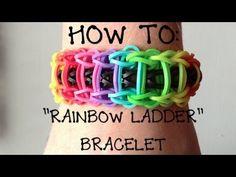 "How To: ""Rainbow Ladder"" Bracelet Using Rainbow Loom! (+playlist)"