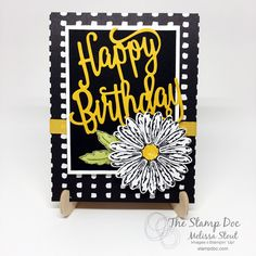 Daisy Delight, Daisy punch, Pick A Pattern DSP, Happy Birthday Thinlit, Crushed Curry Mini Chevron Ribbon - Daisy Delight Stampin' Up, Stampin Up Anleitung, Happy Birthday Gorgeous, Happy Birthday Greetings, Stamping Up Cards, Flower Cards, Cute Cards, Homemade Cards, Making Ideas