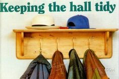 Wall Mounted Coat Rack Plans - Furniture Plans and Projects | WoodArchivist.com