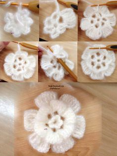 crochet flower and rose ideas and tutorial Do not miss these 34 magnificent flower patterns in crochet, with step by step tutorial. The crochet flowers are very useful … Read more. Diy Crochet Flowers, Crochet Simple, Yarn Flowers, Diy Crafts Crochet, Crochet Flower Tutorial, Crochet Flower Patterns, Crochet Gifts, Rose Tutorial, Freeform Crochet