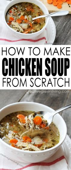 I love this healthy and easy homemade chicken soup recipe. It looks so easy - especially since you make it in a crockpot!