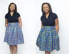 Cynthia Bell Skirt – African Print Ankara Fabric ~African fashion, Ankara, kitenge, African women dresses, African prints, African men's fashion, Nigerian style, Ghanaian fashion ~DKK