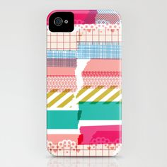 My new washi iphone case by mrs eliot books on society 6