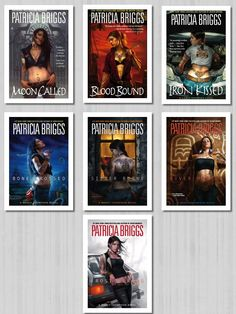 Mercy Thompson Series by Patricia Briggs. The covers pulled me in, the story line kept me hooked!