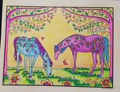 The Wonderful World of Horses - Edition - Adult Coloring / Colouring book: Beautiful Horses to Color - Edition with revised and additional illustrations Horse Coloring Pages, Coloring Books, Beautiful Horses, 2 Colours, Adult Coloring, Wonders Of The World, Illustration, Vintage Coloring Books, Pretty Horses