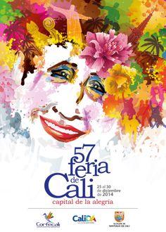 Segundo puesto en la convocatoria del Afiche de la 57 Feria de Cali Cali Colombia, Design Inspiration, Movie Posters, Painting, Editorial, Google, Ideas, Saint James, Fractal Art