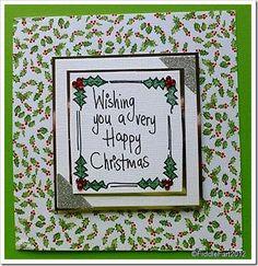Simple Holly Christmas Card