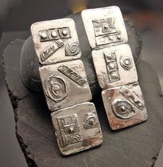 Earrings | Designs by Suzyn.  Sterling silver