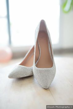 Sparkle wedding shoes - classic wedding heels - See Jarrett and Ebones full wedding on WeddingWire! {Visuals Photography}