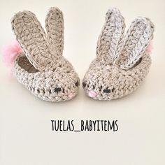 hellooo Insta  Es fällt überhaupt nicht auf dass ich Bunnys lieber oder   #bunnyaddict  Hier zur sehen; süße bunny Füßchen für ganz kleine auch für Größere (bis 2 Jahren) machbar  Habt einen sonnigen Tag !  by tuelas_babyitems